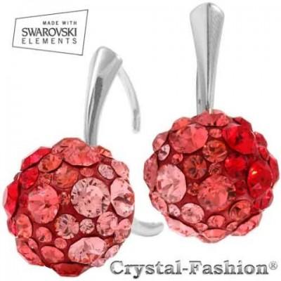cercei cristale rosii swarovski
