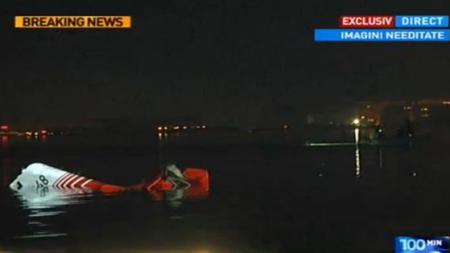 Elicopter SMURD prăbuşit în Lacul Siutghiol. Doctoriţa recuperată de salvatori în stop-cardiorespirator A MURIT la spital. FILMUL TRAGEDIEI AVIATICE