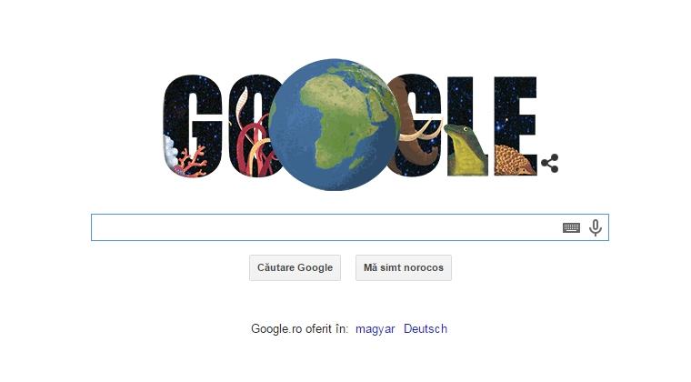 Google sarbatoreste Ziua Pamantului cu un logo special