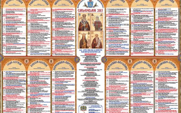 CALENDAR ORTODOX 2015. In ce zile pica Pastele si cele mai mari sarbatori religioase din Romania