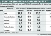 Doar 6 din cele mai mari 100 de companii din Romania dupa venituri sunt listate la bursa