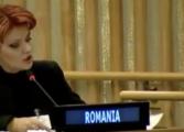 Lia Olguta Vasilescu, chinuind limba engleza intr-un discurs la ONU - VIDEO