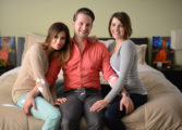 Two bisexual women and their husband love parenting as threesome