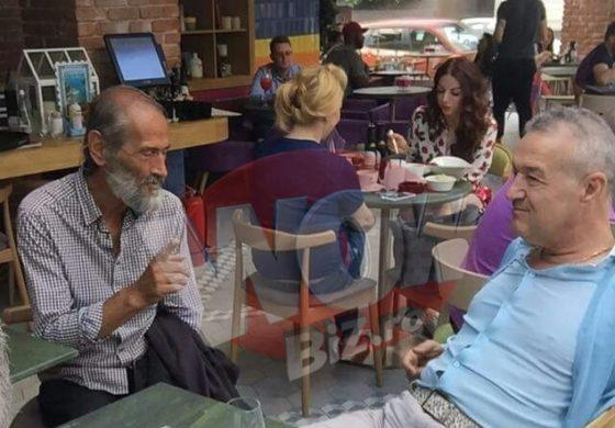 Gigi Becali, la masa cu un cersetor! Toata lumea a fost socata cand i-a vazut impreuna la o terasa de fite din Capitala! Nimeni nu stie insa ca in tinerete patronul Stelei a fost ucenicul barbatului amarat!