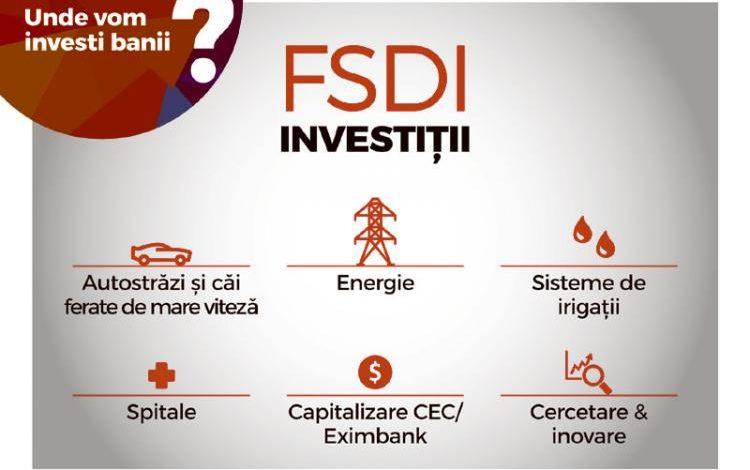 Proiect de Lege privind înființarea Fondului Suveran de Dezvoltare și Investiții – S.A. (FSDI)