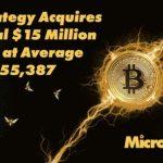 MicroStrategy (MSTR) cumpără încă 271 Bitcoini pentru aproximativ 15 milioane de dolari